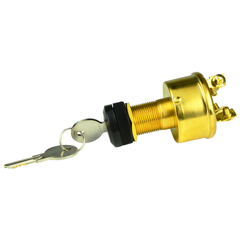 BEP 4-Position Brass Ignition Switch - Accessory/OFF/Ignition  Accessory/Start [1001609]