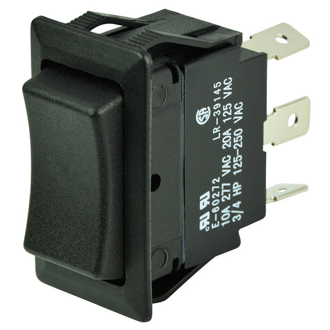 BEP SPDT Rocker Switch - 12V/24V - (ON)/OFF/(ON) [1001711]