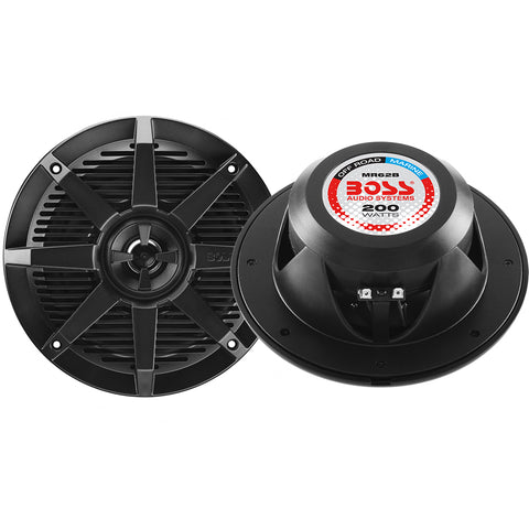 "Boss Audio MR62B 6.5"" 2-Way 200W Marine Full Range Speaker - Black - Pair [MR62B]"