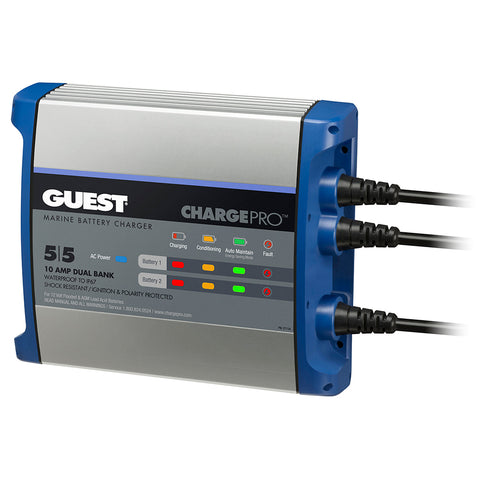Guest On-Board Battery Charger 10A / 12V - 2 Bank - 120V Input [2711A]