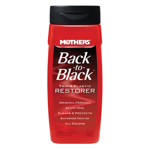 Mothers Back-To-Black Trim  Plastic Restorer - 12oz *Case of 6* [06112CASE]