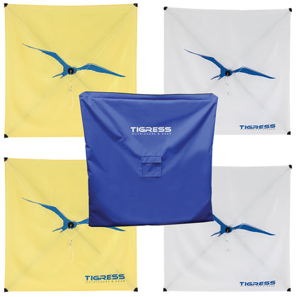 Tigress Kite Kit - 2-All Purpose Yellow, 2-Specialty White  Storage Bag [KITEPKG-KIT]