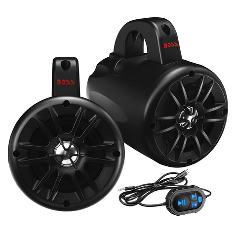 "Boss Audio BM40AMPBT 4"" 2-Way Amplified Roll Cage/Waketower Speaker Pods w/Bluetooth Controller [BM40AMPBT]"