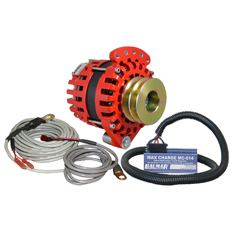 "Balmar Alternator 1-2"" Single Foot Dual V Pulley Regulator  Temp Sensor - 170A Kit - 12V [XT-SF-170-DV-KIT]"