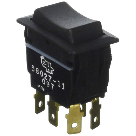 Cole Hersee Sealed Rocker Switch Non-Illuminated DPDT (On)-Off-(On) 6 Blade [58027-11-BP]