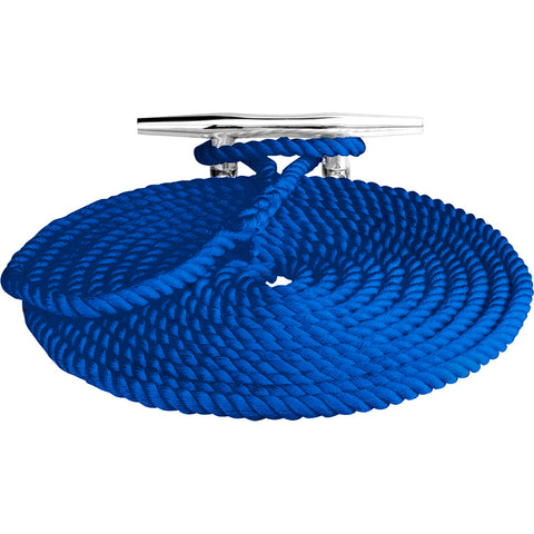 "Sea-Dog Twisted Nylon Dock Line - 3/8"" x 15 - Blue [301110015BL-1]"
