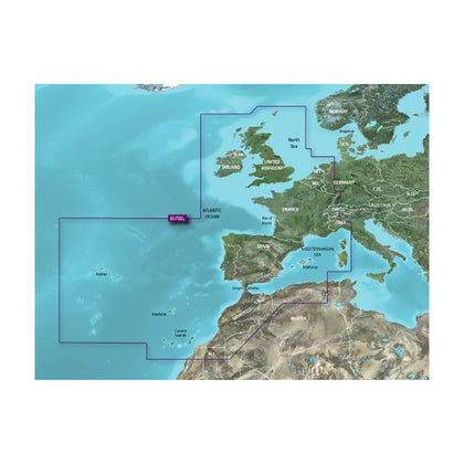 Garmin VEU722L Europe Atlantic Coast BlueChart g3 Vision [010-C1156-00]