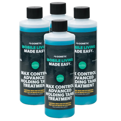 Dometic Max Control Holding Tank Deodorant - BULK Case of Six (6) - Four (4) Pack of Eight (8)oz. Bottles [379700029-KIT]