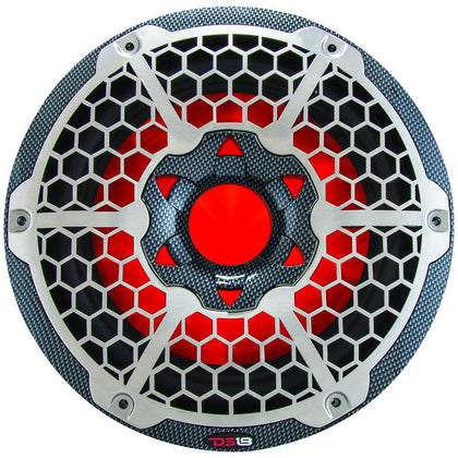 "DS18 HYDRO 10"" Subwoofer w/RGB Lights - 600W - Carbon Fiber [CF-10SUB]"