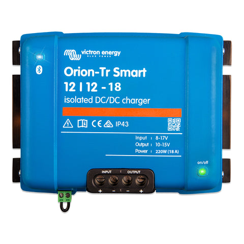 Victron Orion-TR Smart 12/12-18 18A (220W) Isolated DC-DC Charger or Power Supply [ORI121222120]