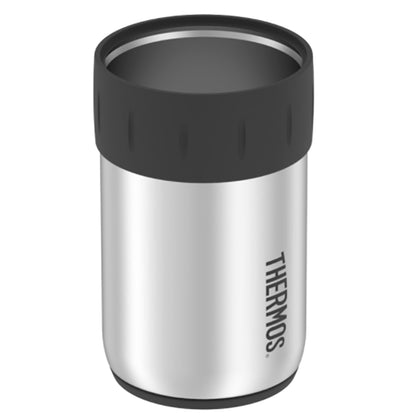 Thermos Stainless Steel Beverage Can Insulator - Keeps Cold 10 Hours - 12oz [2707SST6]
