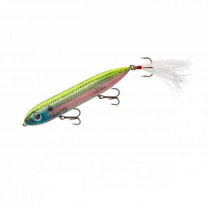 "Heddon Super Spook Feathered 5"" 7-8oz Okie Shad"