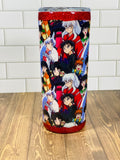 Demon dog Tumbler 20 oz custom fabric Made to order