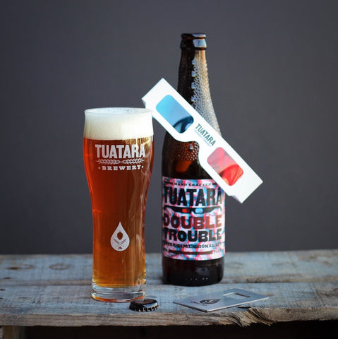 Tuatara craft beer glass CRAFTD. glass collaboration Duke Zvíkov
