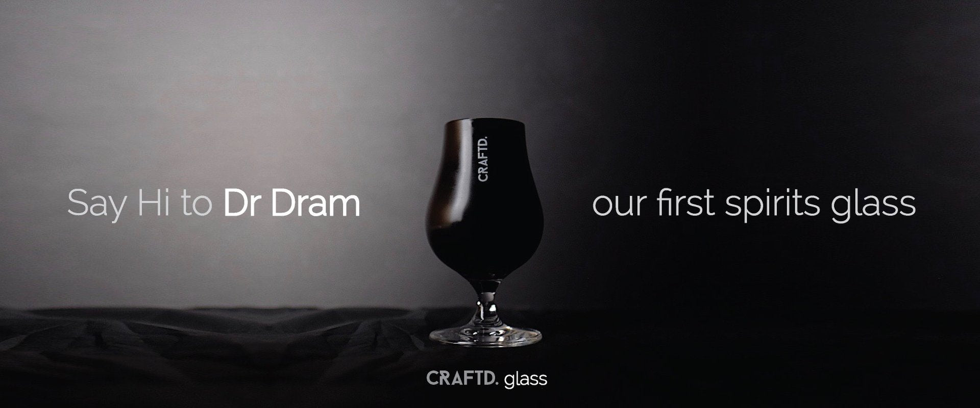 Dr Dram is our first spirits glass.