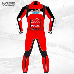 ARUBA.IT RACING DUCATI TEAM MOTOGP BIKER ONE PIECE RACE LEATHERS SUIT - Wiseleather