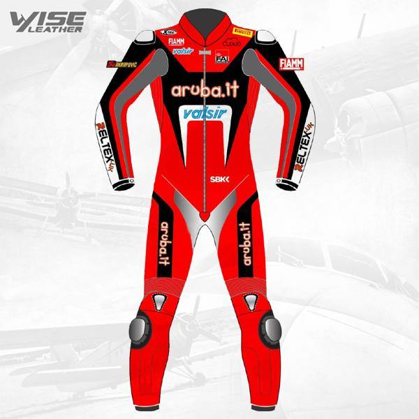 ARUBA.IT RACING DUCATI TEAM MOTOGP BIKER ONE PIECE RACE LEATHERS SUIT