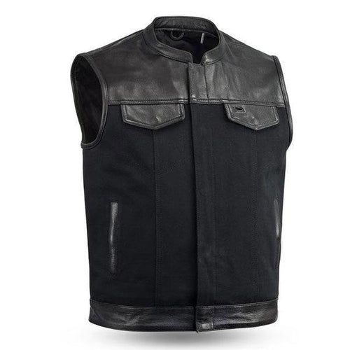Best Manufacturing Leather Vest With Collar
