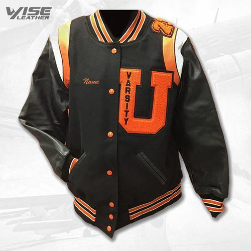 UTICA VARSITY JACKET - BLACK