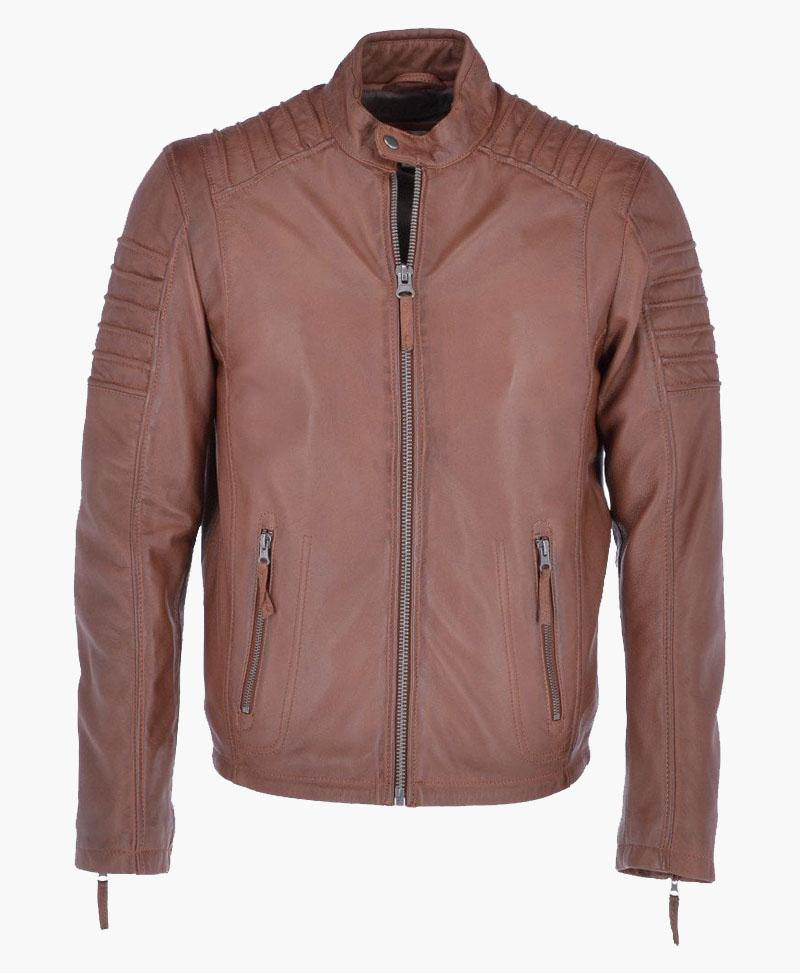 BRAND NEW MEN'S LEATHER BIKER JACKET