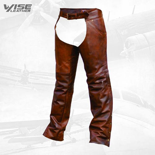 Cafe Brown Chaps premium buffalo leather