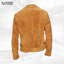 Collared Suede Leather Jacket