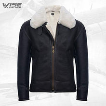 Men's B3 'Air Force' Real Shearling Sheepskin Aviator Pilot Flying Jacket