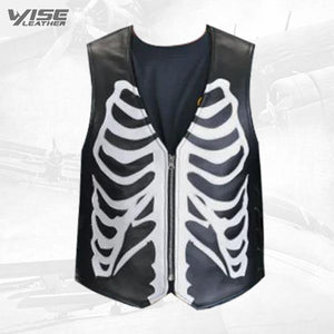 Custom Black And White Bone Vest