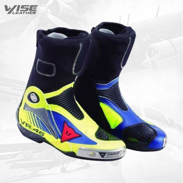 Dainese BLACK MOTOGP MOTORBIKE MOTORCYCLE COWHIDE LEATHER BIKERS RIDING BOOTS