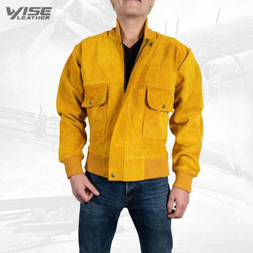 Exclusive Men Leather Jacket Colo Pure Suede Leather Jacket