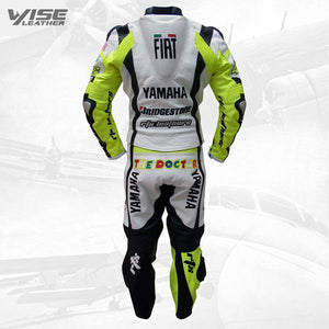 FIAT YAMAHA VALENTINO ROSSI 46 RACE REPLICA MOTORCYCLE SUIT - Wiseleather