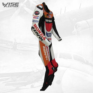 HONDA REPSOL GAS MOTOGP LEATHER RACE SUIT - Wiseleather