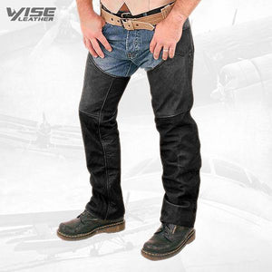 HUNKY-LINED LEATHER CHAP FOR MEN - Wiseleather