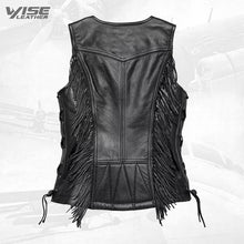 Harley Davidson Black Boone Fringed Leather Vest