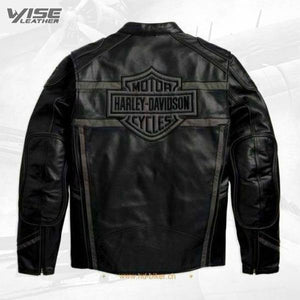 Harley Davidson Men's Luminator 360 Black Leather Jacket - Wiseleather