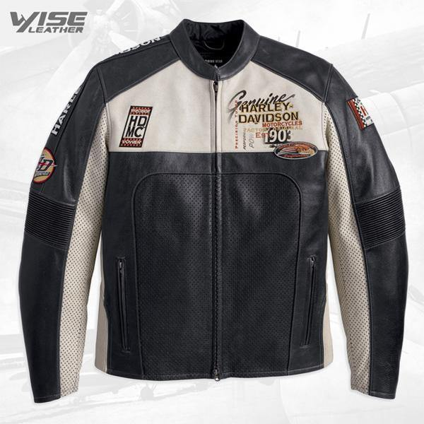 Harley Davidson Men's Regulator Perforated Leather Jacket