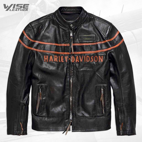 Harley Davidson Motorcycle Double Ton Slim Fit Leather Jacket