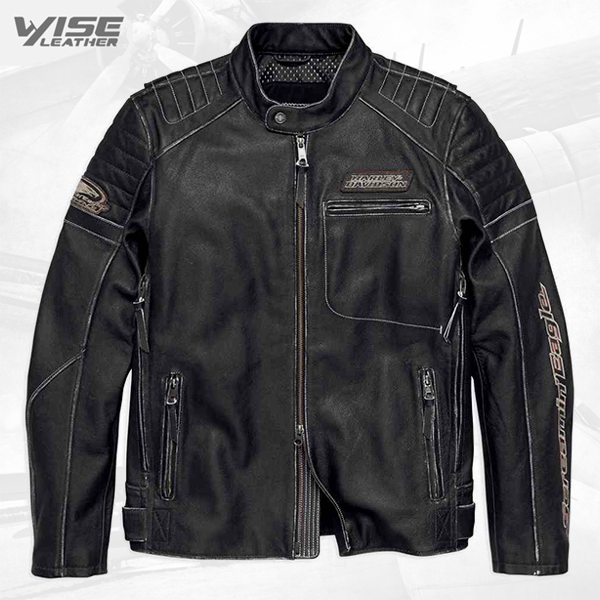 Harley Davidson Motorcycle Screamin Eagle Leather Jacket