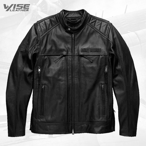 Harley Davidson Motorcycle Synthesis Pocket System Leather Jacket