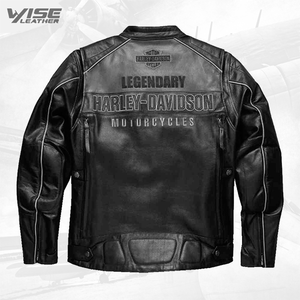 Harley Davidson Motorcycle Votary Colorblocked Leather Jacket - Wiseleather