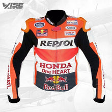 Honda Repsol One Heart Racing Motorbike Leather Jacket
