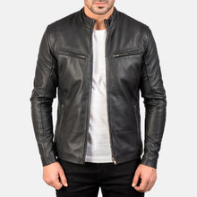 Ionic Black Leather Jacket