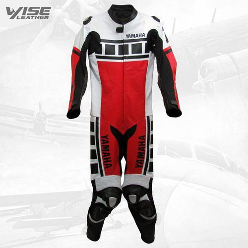 KENNY ROBERTS LEGUNA SECA RED YAMAHA MOTORCYCLE LEATHER SUIT