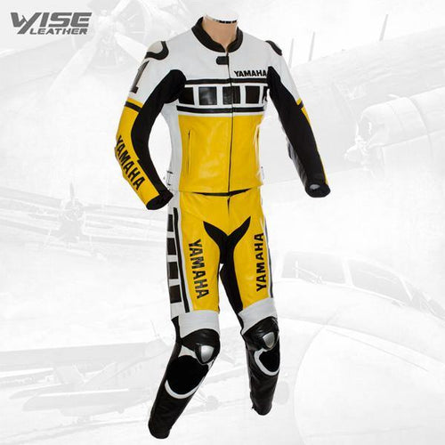 KENNY ROBERTS LEGUNA SECA YELLOW 2PC LEATHER BIKER SUIT