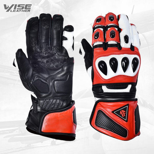 Leather Motorcycle Gloves Motorbike Waterproof Thermal Winter Racing