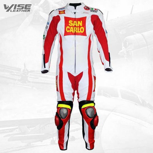 MARCO SIMONCELLI 2011 MOTORCYCLE RACE LEATHER SUIT