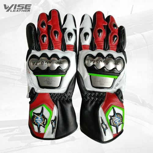 MV AGUSTA Motogp Motorcycle Leather Gloves