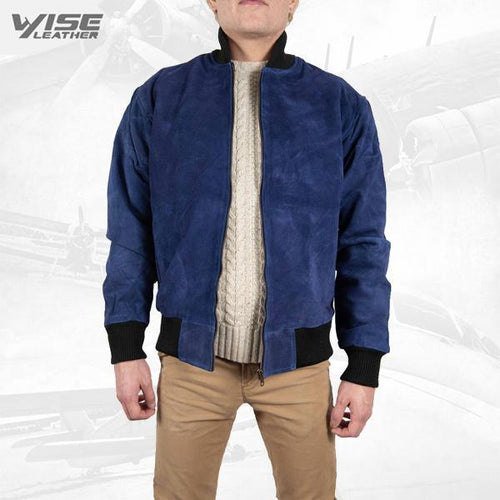 Men Exclusive Jacket Blue dragon Real Leather Suede Jacket Fashion Style