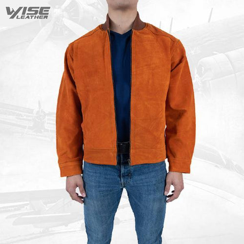 Men Exclusive Jacket Orango Pure Suede leather Jacket