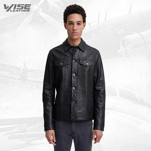 Men Smart Detective Leather Jacket - Wiseleather